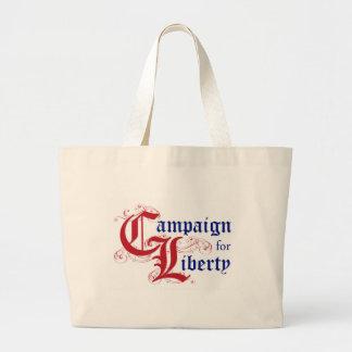 Campaña para el rojo del bolso del logotipo de la  bolsas lienzo
