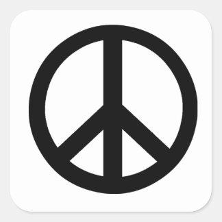 Campaña para el símbolo del desarme nuclear pegatina cuadrada