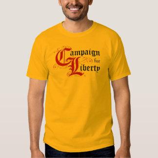 Campaña para la libertad (pregúnteme alrededor:) remeras