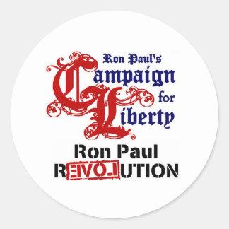 Campaña para la libertad Ron Paul Etiqueta Redonda