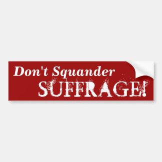 Campaña para salir del palillo de las pegatinas pa etiqueta de parachoque