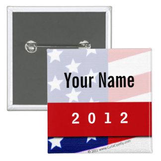 Campaña política barras y estrellas de CYO Pins