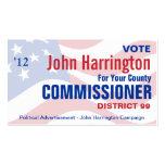 Campaña política - comisión Business del condado Plantillas De Tarjeta De Negocio