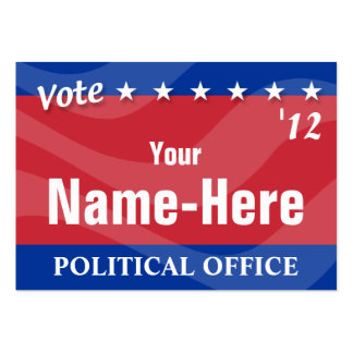 Campaña política con la etiqueta de QR Tarjetas De Visita Grandes