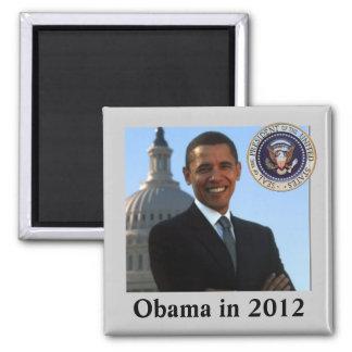 Campaña política para 2012 imán cuadrado