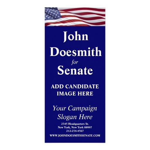 Campaña política patriótica tarjeta publicitaria a todo color