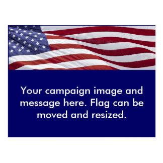 Campaña política patriótica tarjetas postales