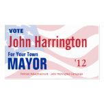 Campaña política - tarjeta del alcalde visita tarjetas de visita