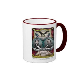 Campaña presidencial 1864 de Abraham Lincoln Taza De Dos Colores