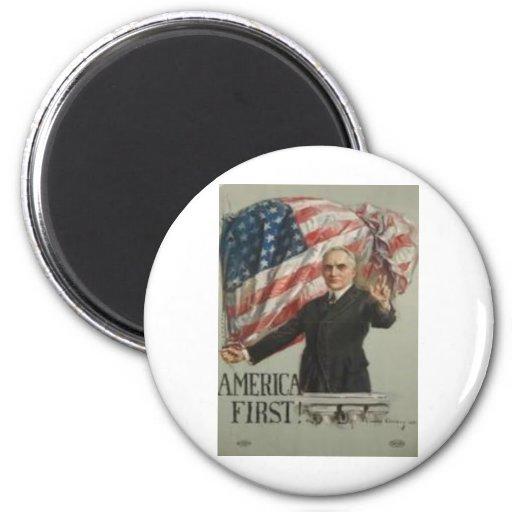 Campaña presidencial 1920 imán redondo 5 cm
