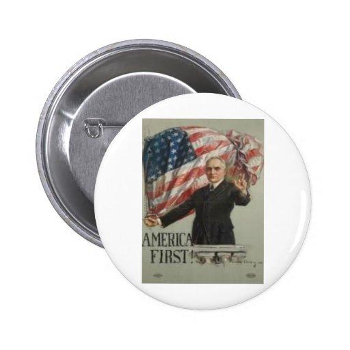 Campaña presidencial 1920 pin redondo 5 cm