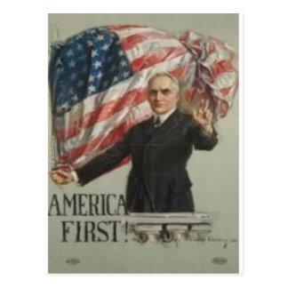 Campaña presidencial 1920 postal
