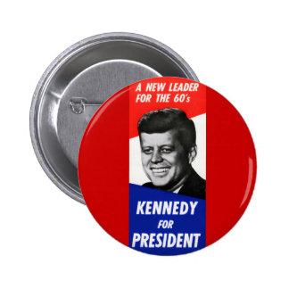Campaña presidencial 1960 de Kennedy Pin Redondo De 2 Pulgadas