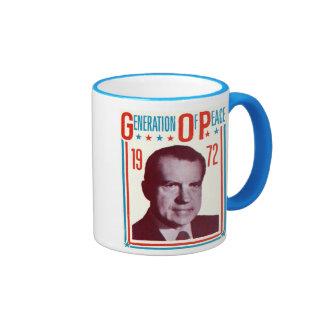 Campaña presidencial 1972 de Nixon Taza De Dos Colores