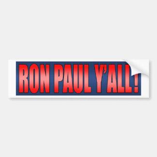 Campaña presidencial de Ron Paul 2012 Pegatina Para Auto