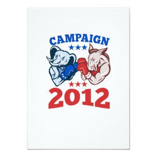 Campaña republicana 2012 del elefante del burro de invitación 11,4 x 15,8 cm