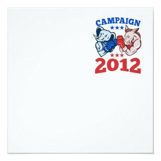 Campaña republicana 2012 del elefante del burro de