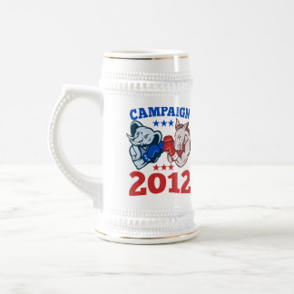 Campaña republicana 2012 del elefante del burro de taza