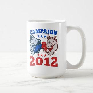 Campaña republicana 2012 del elefante del burro de tazas