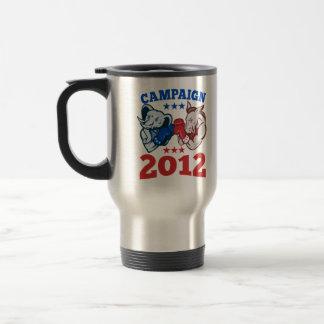 Campaña republicana 2012 del elefante del burro de tazas de café