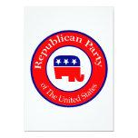Campaña republicana invitación 12,7 x 17,8 cm