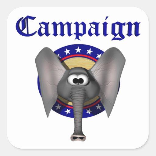 Campaña republicana pegatina cuadrada