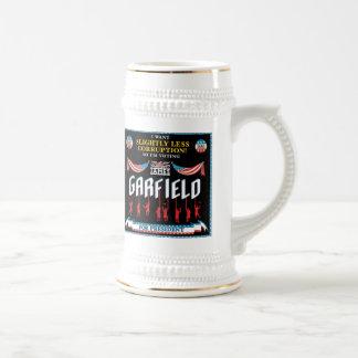 Campaña Stein de James Garfield 1880 Jarra De Cerveza