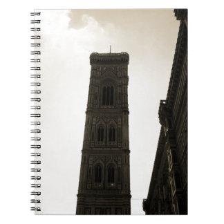 Campanario de Firenze de los Di del Duomo de IL Libros De Apuntes Con Espiral