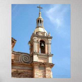 Campanario de la iglesia, Puerto Vallarta, México Póster