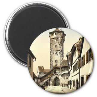 Campanario (Tor) del klingen, Rothenburg (es decir Imán Redondo 5 Cm