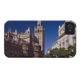 Campanario y catedral, Madrid, España de Giralda iPhone 4 Funda