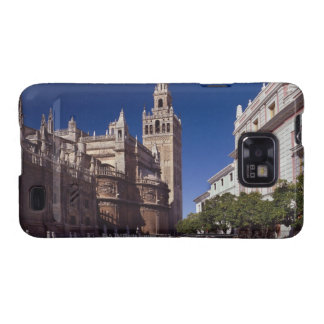 Campanario y catedral, Madrid, España de Giralda Galaxy SII Fundas