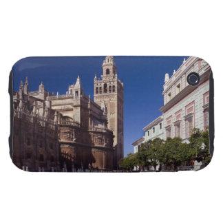 Campanario y catedral, Madrid, España de Giralda iPhone 3 Tough Cárcasas