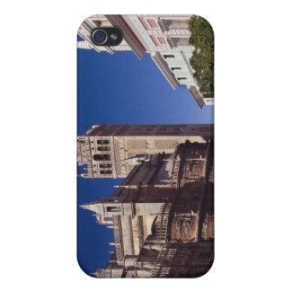 Campanario y catedral, Madrid, España de Giralda iPhone 4 Fundas