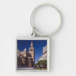 Campanario y catedral, Madrid, España de Giralda Llavero Personalizado