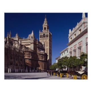 Campanario y catedral, Madrid, España de Giralda Posters