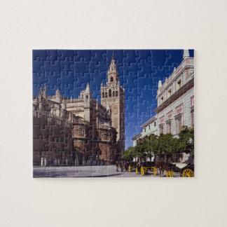 Campanario y catedral, Madrid, España de Giralda Puzzles
