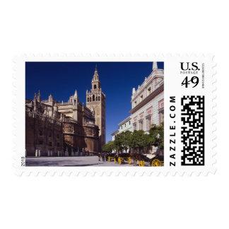 Campanario y catedral, Madrid, España de Giralda Sello