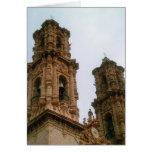 Campanarios de la catedral de Taxco Tarjeta De Felicitación
