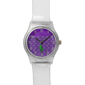Campanas conocidas personalizadas de la púrpura relojes