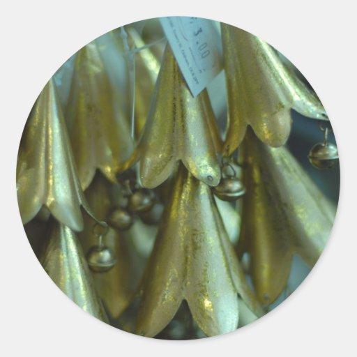 Campanas de la decoración de la alegría del pegatina redonda
