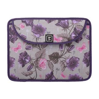 campanas de mano violetas y modelo de mariposas ro fundas para macbook pro