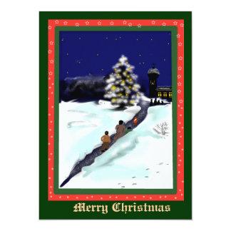 """campanas de navidad invitación 5.5"""" x 7.5"""""""