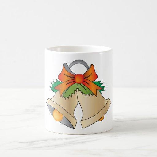Campanas de navidad taza clásica