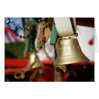 Campanas portuguesas del toro tarjeta de felicitación