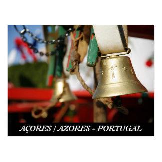 Campanas portuguesas del toro tarjeta postal