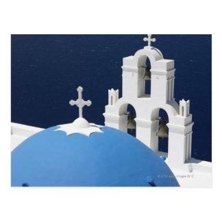Campanas y cruces de iglesia por la bóveda en postal