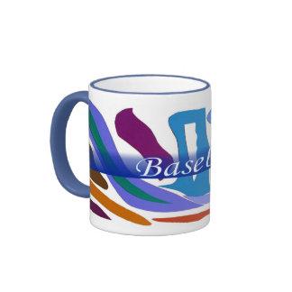 Campanero azul del arte abstracto del tono de la taza de dos colores