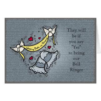 Campanero de Bell o cualquier necesidad del boda Tarjeta De Felicitación