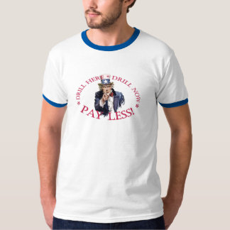 Campanero de la camiseta del taladro playeras